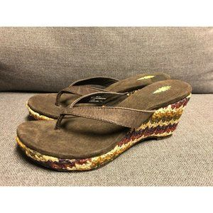 NEW! Volatile Women's Girl Talk Leather Open Toe Thong Casual Sandal Size 8
